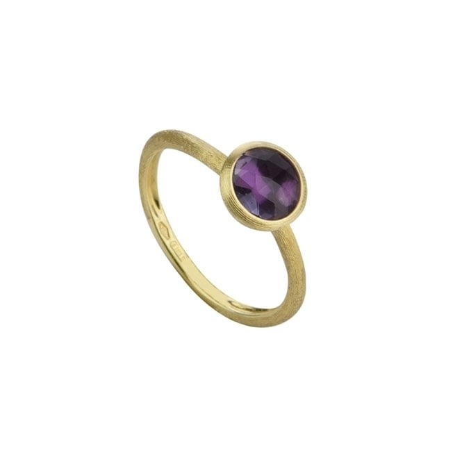 18ct Yellow Gold Jaipur Single Stone Amethyst Ring