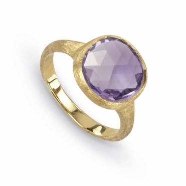 18ct Yellow Gold Light Amethyst Jaipur Ring