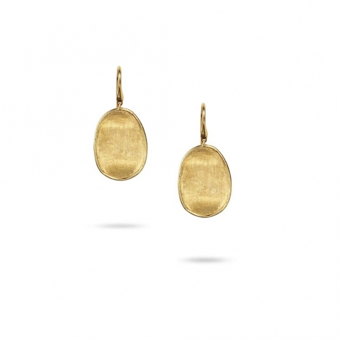 18ct Yellow Gold Lunaria Hook Fitting Drop Earrings