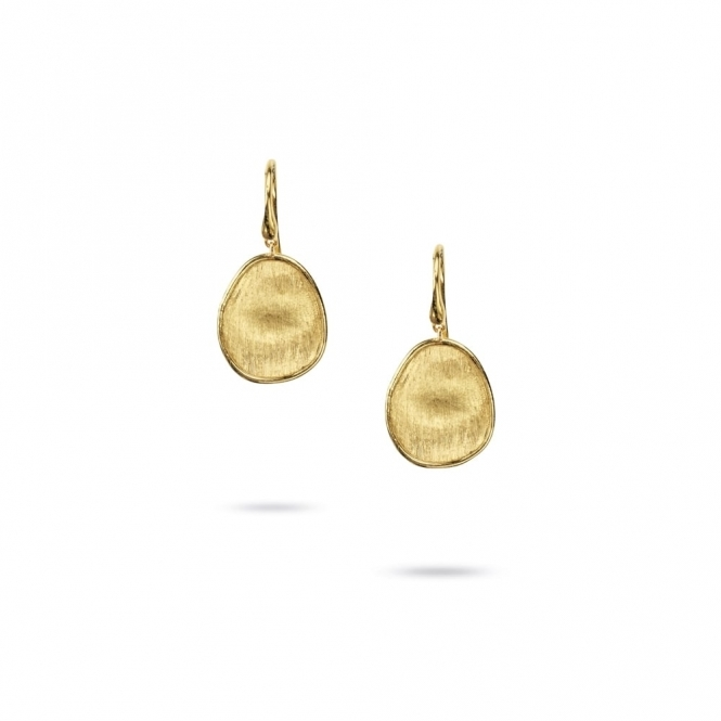 18ct Yellow Gold Lunaria Small Drop Earrings