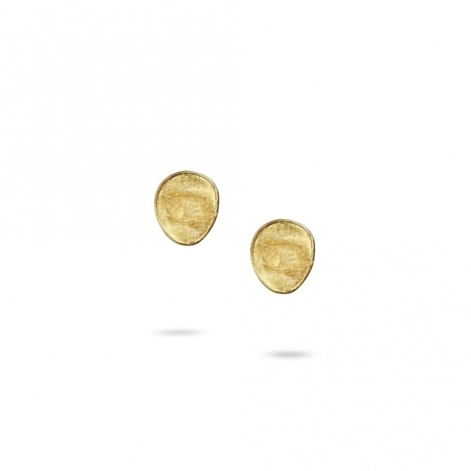 18ct Yellow Gold Lunaria Stud Earrings