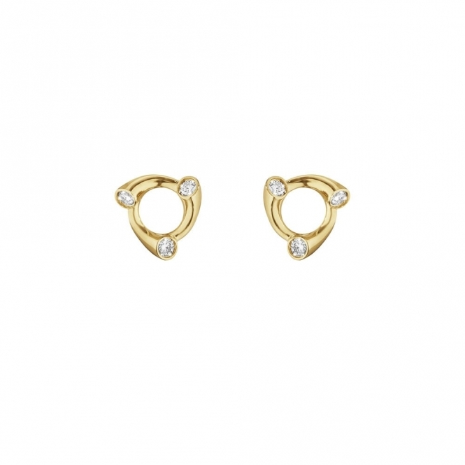 18ct Yellow Gold Magic Diamond Stud Earrings