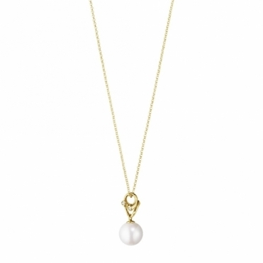 18ct Yellow Gold Magic Pendant with Pearl and Diamonds