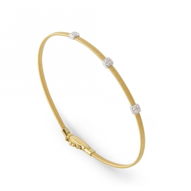 18ct Yellow Gold Masai Diamond Bangle