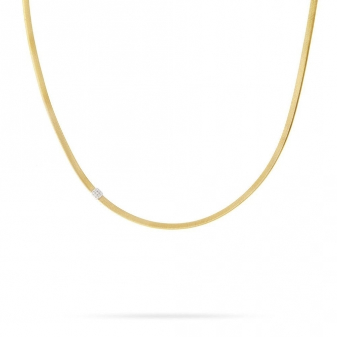 18ct Yellow Gold Masai Diamond Necklace