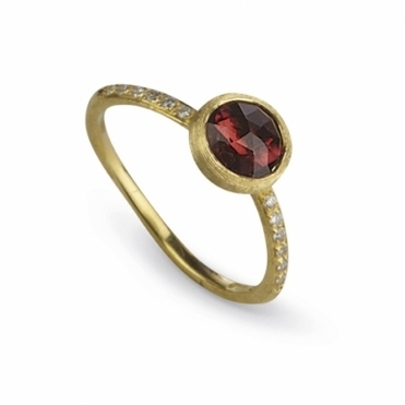 18ct Yellow Gold Pink Tourmaline & Diamond Jaipur Ring