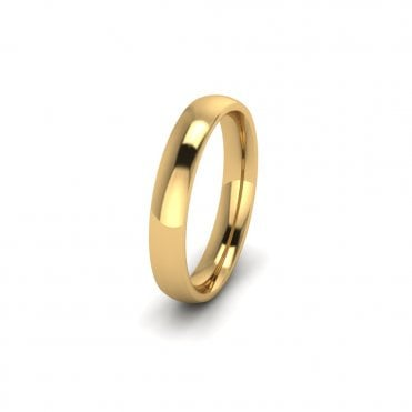 18ct Yellow Gold Profile D Wedding Ring