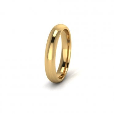 18ct Yellow Gold Profile E Wedding Ring