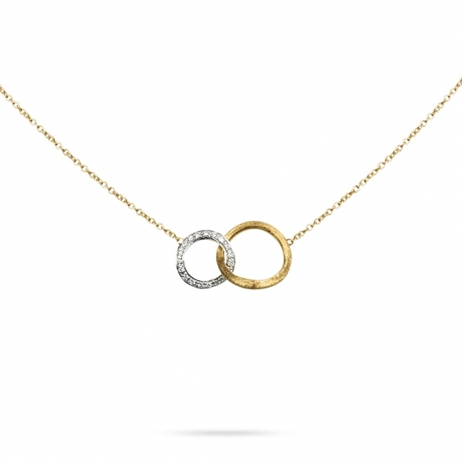 18ct Yellow & White Diamond Set Jaipur Link Necklace
