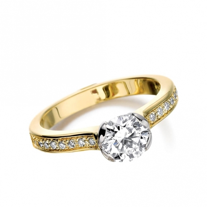 18ct Yellow & White Gold Diamond Ring