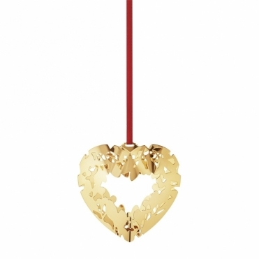 2015 Christmas Gold Plated Heart