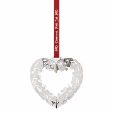 2015 Christmas Palladium Plated Mobile Heart