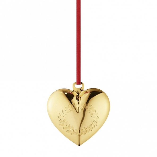 2016 Annual Christmas Gold Plated Heart