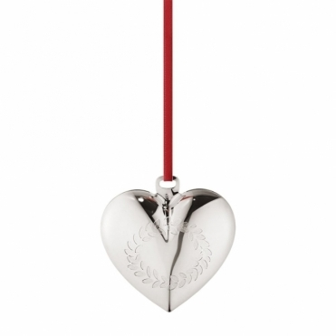 2016 Annual Christmas Palladium Plated Heart