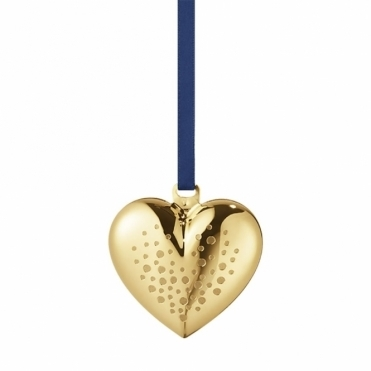 2017 Christmas Gold Plated Heart