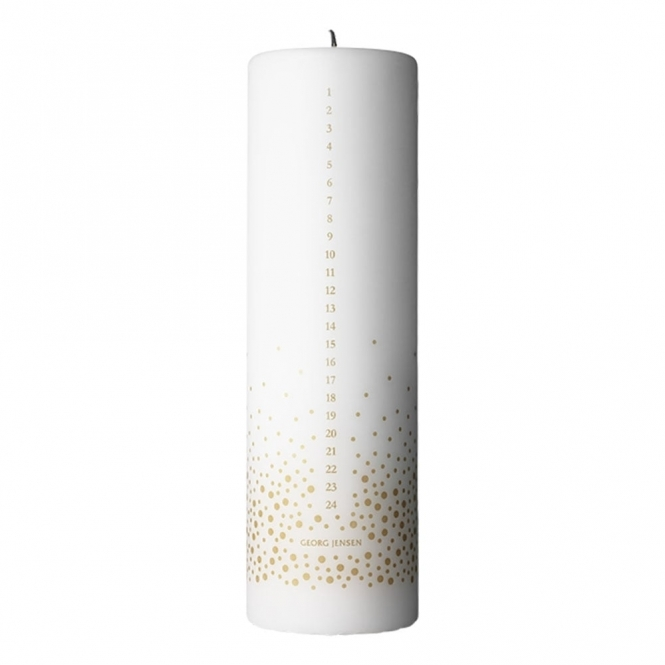 2017 Christmas Gold Print Advent Candle