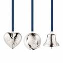 2017 Christmas Palladium Plated Heart, Bell, Ball Gift Set