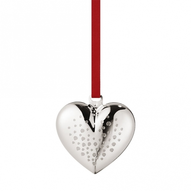 2017 Christmas Palladium Plated Heart