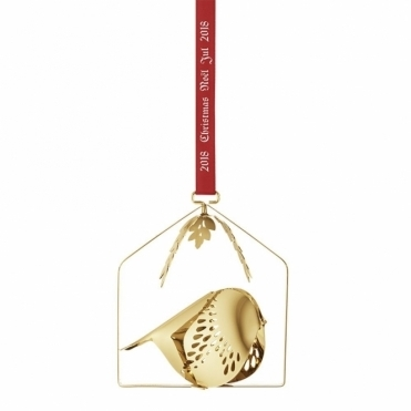 2018 Christmas Mobile Gold Plated Bird Decoration