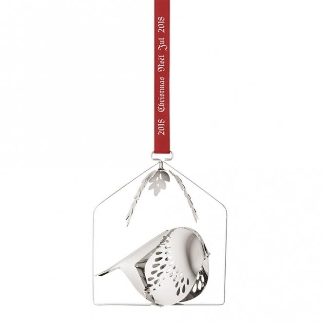 2018 Christmas Mobile Palladium Plated Bird Decoration