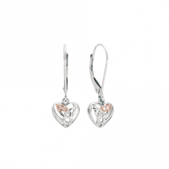 9ct Gold & Silver Eternal Love Drop Earrings