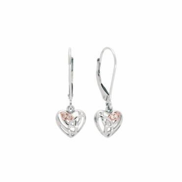 9ct Gold & Silver Eternal Love Drop Earrings
