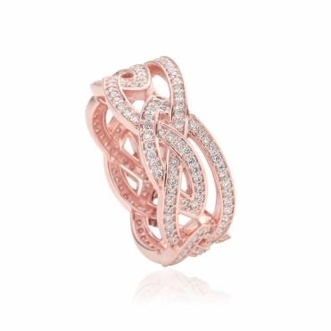 9ct Rose Gold & Diamond Eternal Love Ring