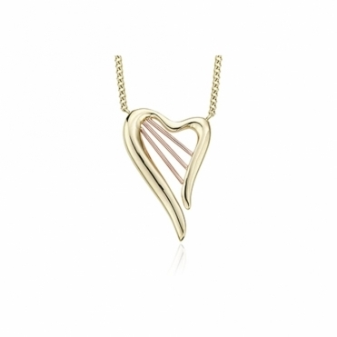 9ct Yellow & Rose Gold Heartstrings Necklace.