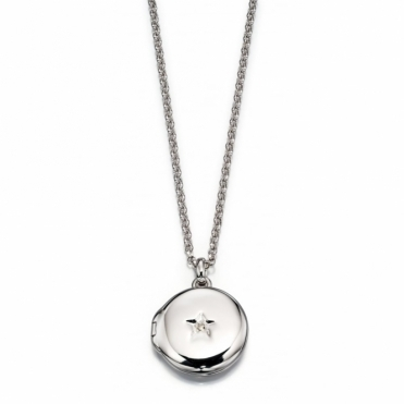 Adriana Diamond Locket and Chain