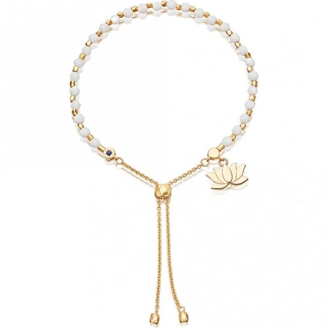 Agate Lotus Kula Gold Bracelet
