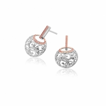 Am Byth Diamond Drop Earrings