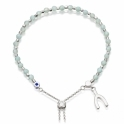Amazonite Wishbone Kula Silver Bracelet
