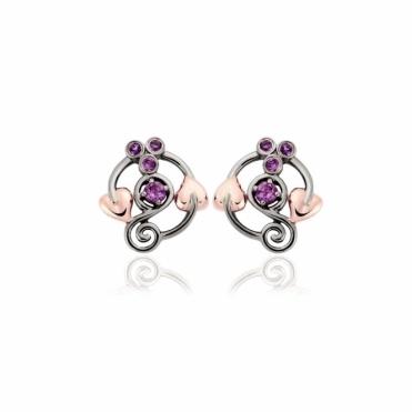 Amethyst Origin Stud Earrings
