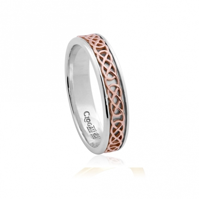 Annwyl 9ct Rose Gold and Silver Ring
