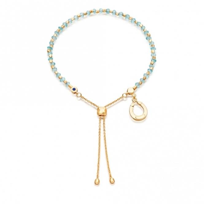 Apatite Horseshoe Kula Gold Bracelet