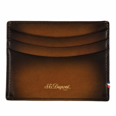 Atelier Tobacco Brown Leather 6 Credit Card Holder