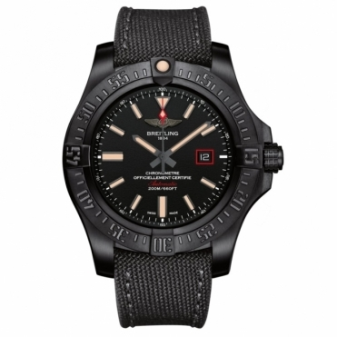 Avenger Blackbird 44mm Automatic Chronometer in Black Titanium