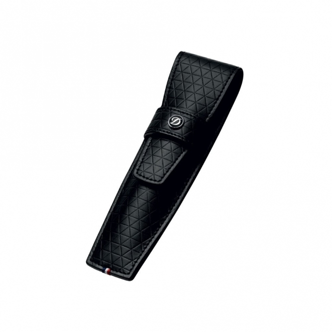 Black Firehead Design Leather Pen Case for Single Pen