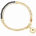 Black Spinel Locket Biography Bracelet