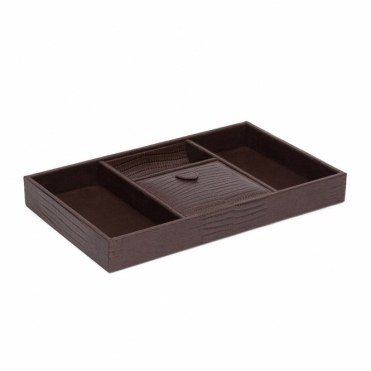 Blake Valet Tray in BrownTeju Lizard Finish