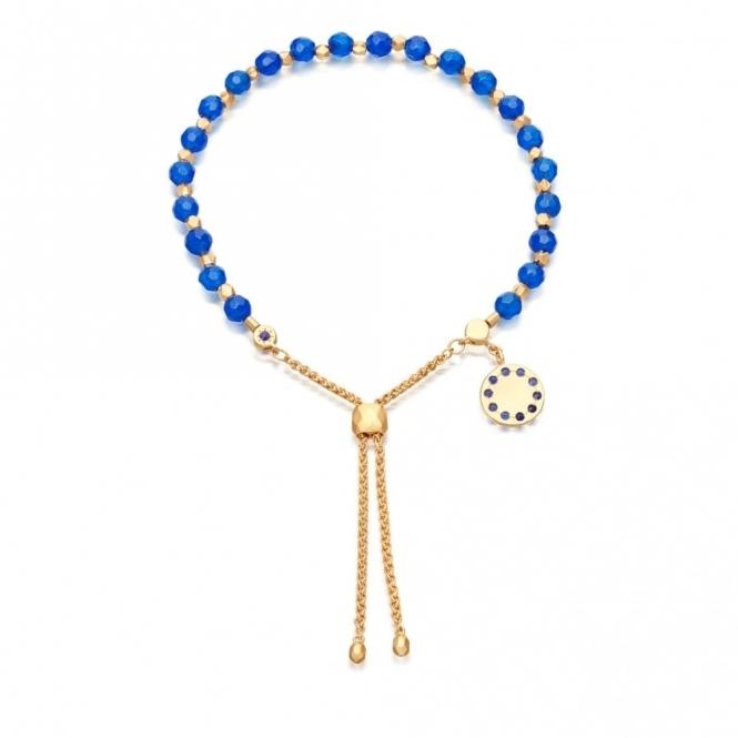 Blue Agate Super Kula Bracelet