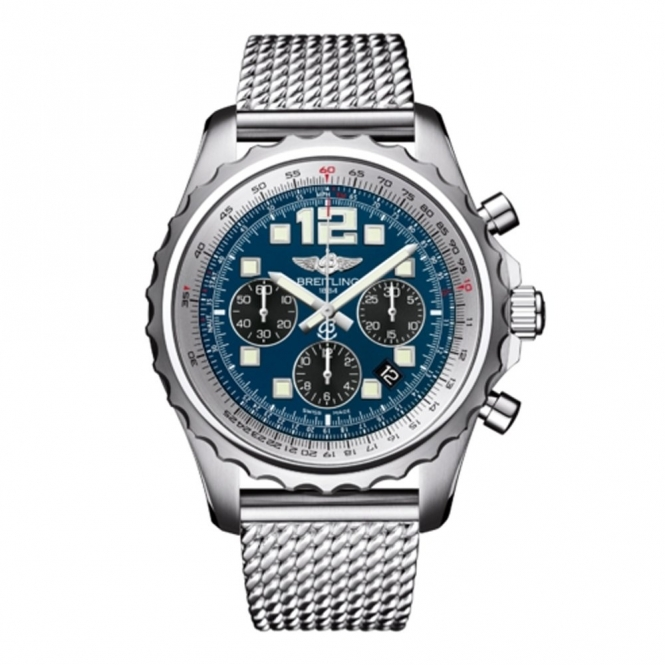 Breitling Chronospace Chronometer with Black-Eyed Blue Dial