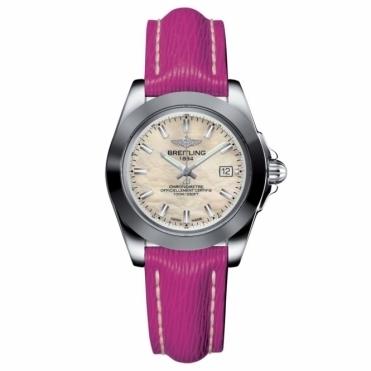 Breitling Luxury Watches Galactic 32 Sleek T Ladies Quartz watch with Fuschia Pink Strap