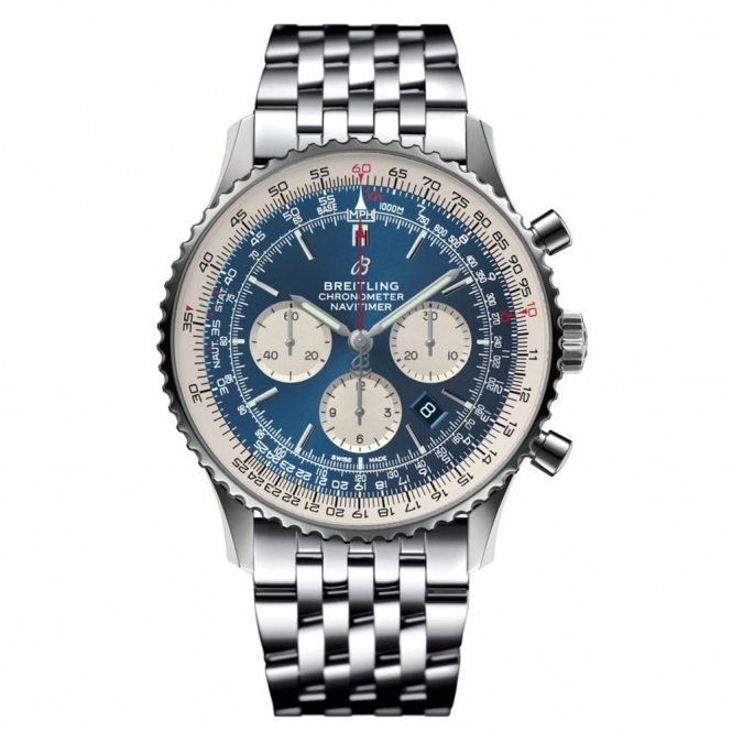Breitling Navitimer 46mm Chronograph with Aurora Blue Dial