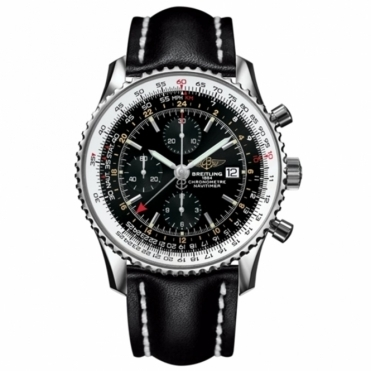 Breitling Navitimer World with Black Dial and Calf Leather Strap