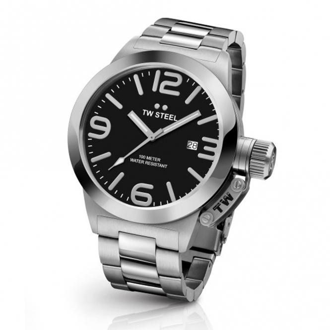Canteen Bracelet 45mm Quartz Watch with Black Dial - TWCB1