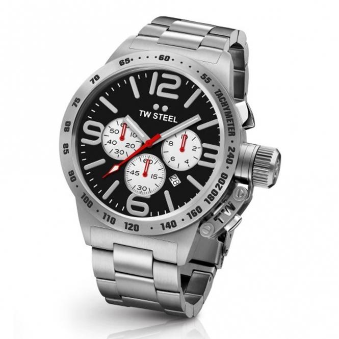 Canteen Chronograph Bracelet 45cm quartz watch with Tachymeter Scale on Bezel