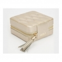 Caroline Champagne Leather Zip Case