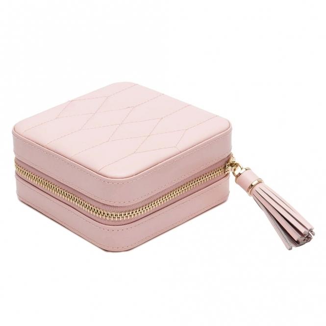 Caroline Zip Case in Rose Quartz Leather