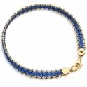 Cerulean Woven Biography Bracelet